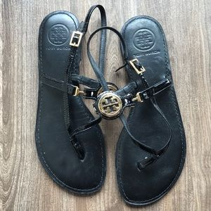 Tory Burch Sandal Black Gold